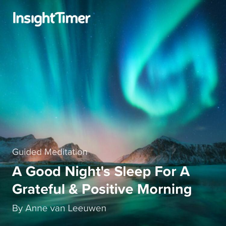A good night's sleep for a grateful positive morning