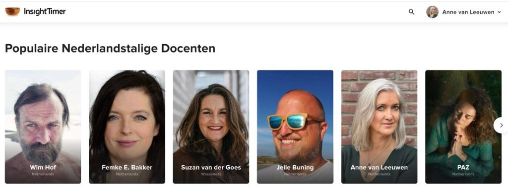 Top docent op Insight Timer